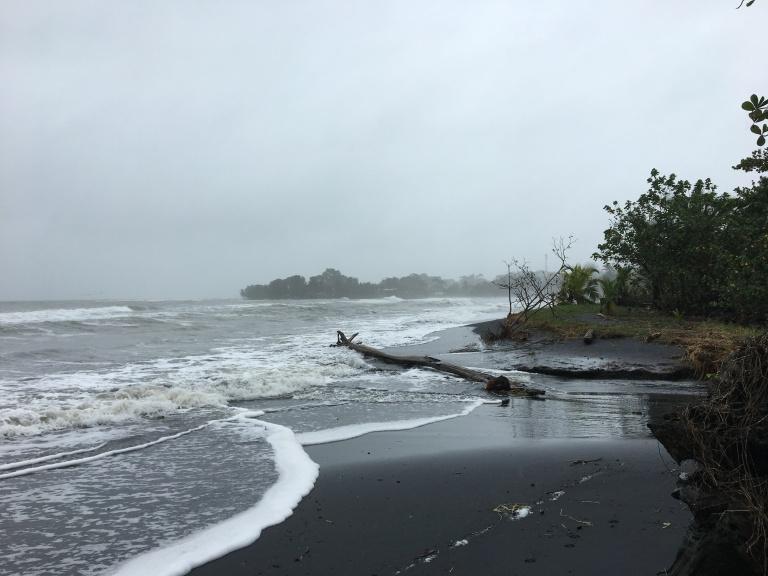 PV black beach rain